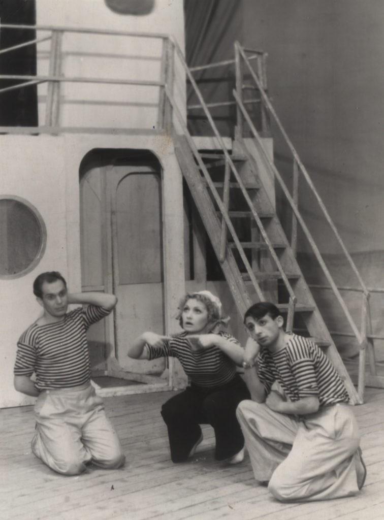 Н. Грюнберг (Цагина), М. Таубе, Н. Лаушкин (оперетта «Белая акация», 1956 г.): фотография