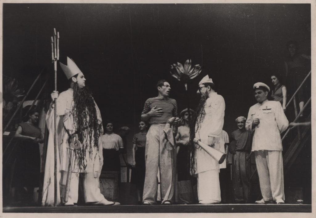 Е. Григорьев, А. Бобров, А. Адрианов, М. Юрченко (оперетта «Белая акация»): фотография
