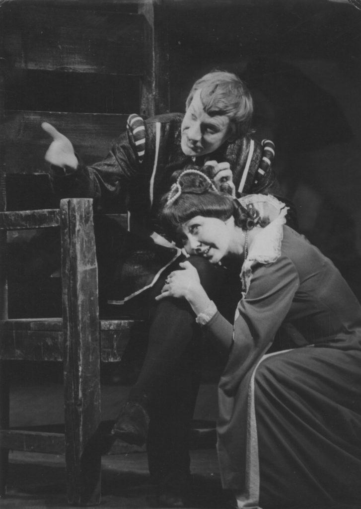 Е. Шокин, Л. Рукавишникова (спектакль «Виндзорские проказницы»): фотография С. Долгова