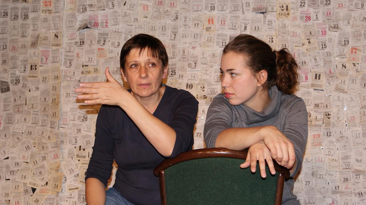 И. Латынникова, Н. Степанова (спектакль «Долгое прощание»): фотография