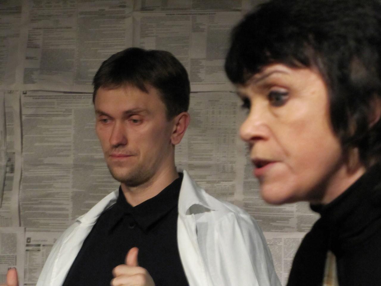 Ф. Бодянский, В. Нефёдова (спектакль «На солнечной стороне улицы»): фотография