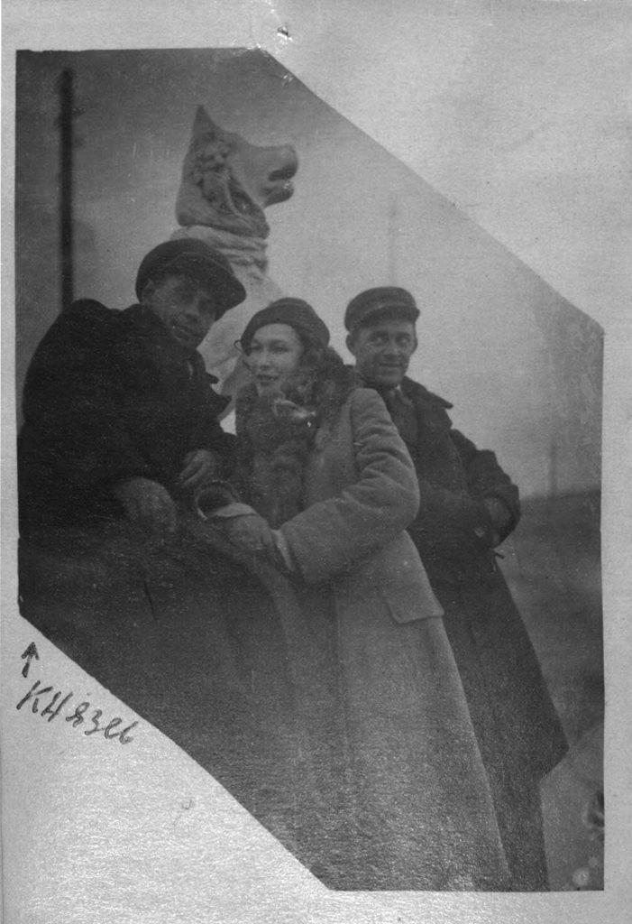 П. Князев с женой. 1935-1936 гг. г. Таганрог: фотография