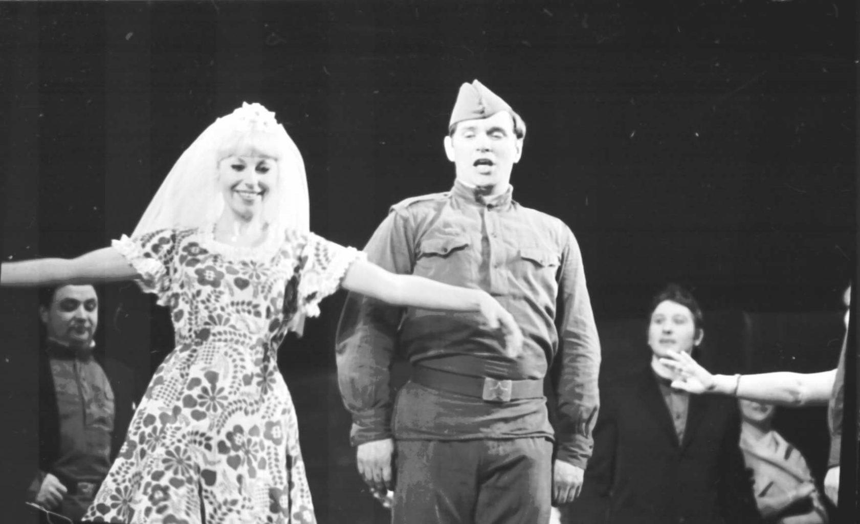 П. Карпов, Н. Васильева (сцена из спектакля, 1980 г.): фотография